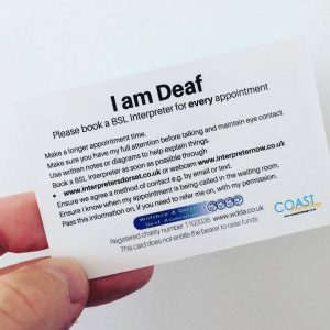 deaf communication card