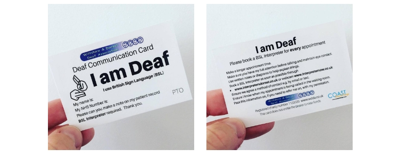 WDDA Deaf Communication Card Initiative