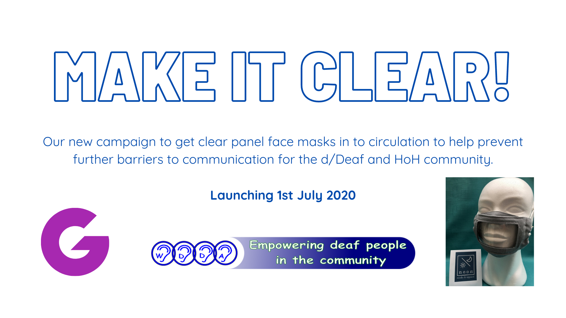 Launch of 'Make it Clear!' Campaign